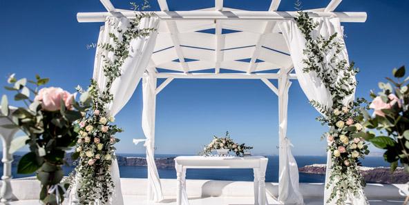 mariage santorin